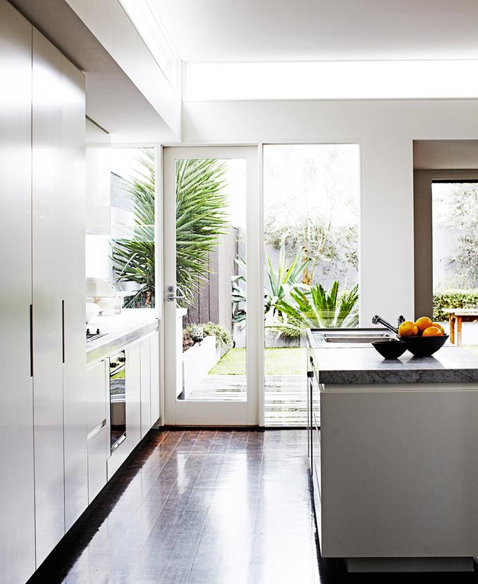 """As the homeowners Denis Lucey and Eliza Brown work in the restaurant and wine industries, it goes without saying that a decent kitchen was important. Top of the couple's list was lots of storage. Denis' Melbourne restaurant, [Bottega](http://www.bottega.com.au/?utm_campaign=supplier/