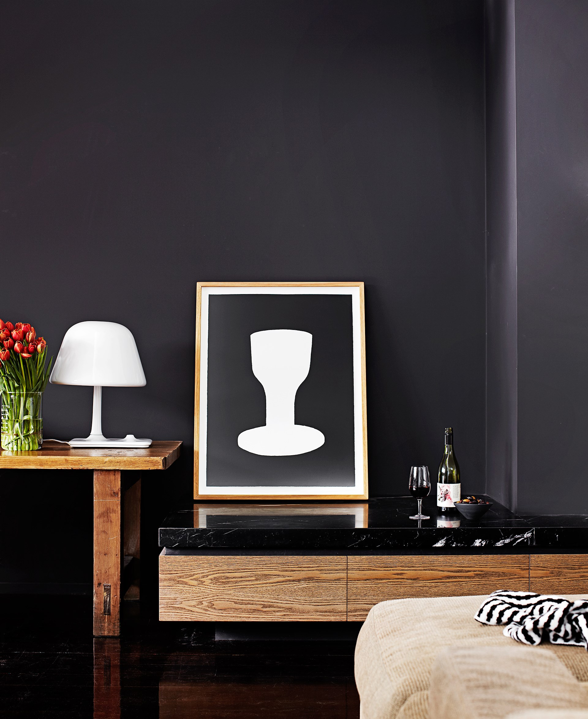 **Moody hues -** Whether you opt for a feature wall or decide to paint the entire room, rich, moody tones like the midnight hue in this [inner-city villa](http://www.homestolove.com.au/inner-city-villa-with-a-timeless-cool-appeal-3509), have the ability to turn any room into a sexy sanctuary. Photo: Sharyn Cairns