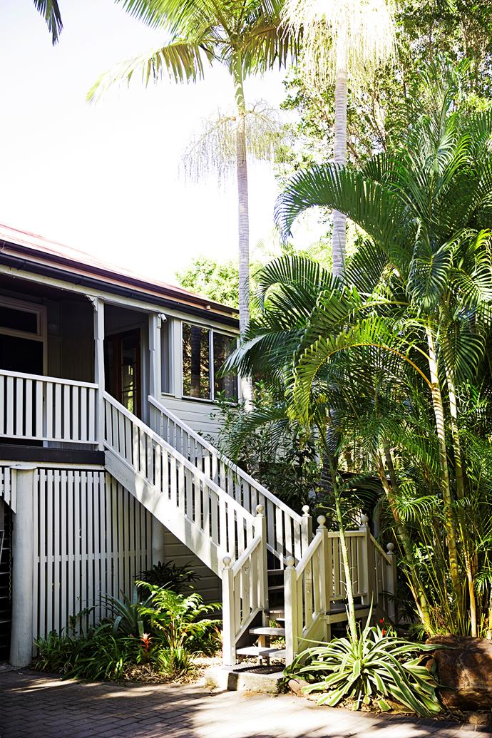 The house was surrounded by native trees and palms, but Leonie added more tropical species.