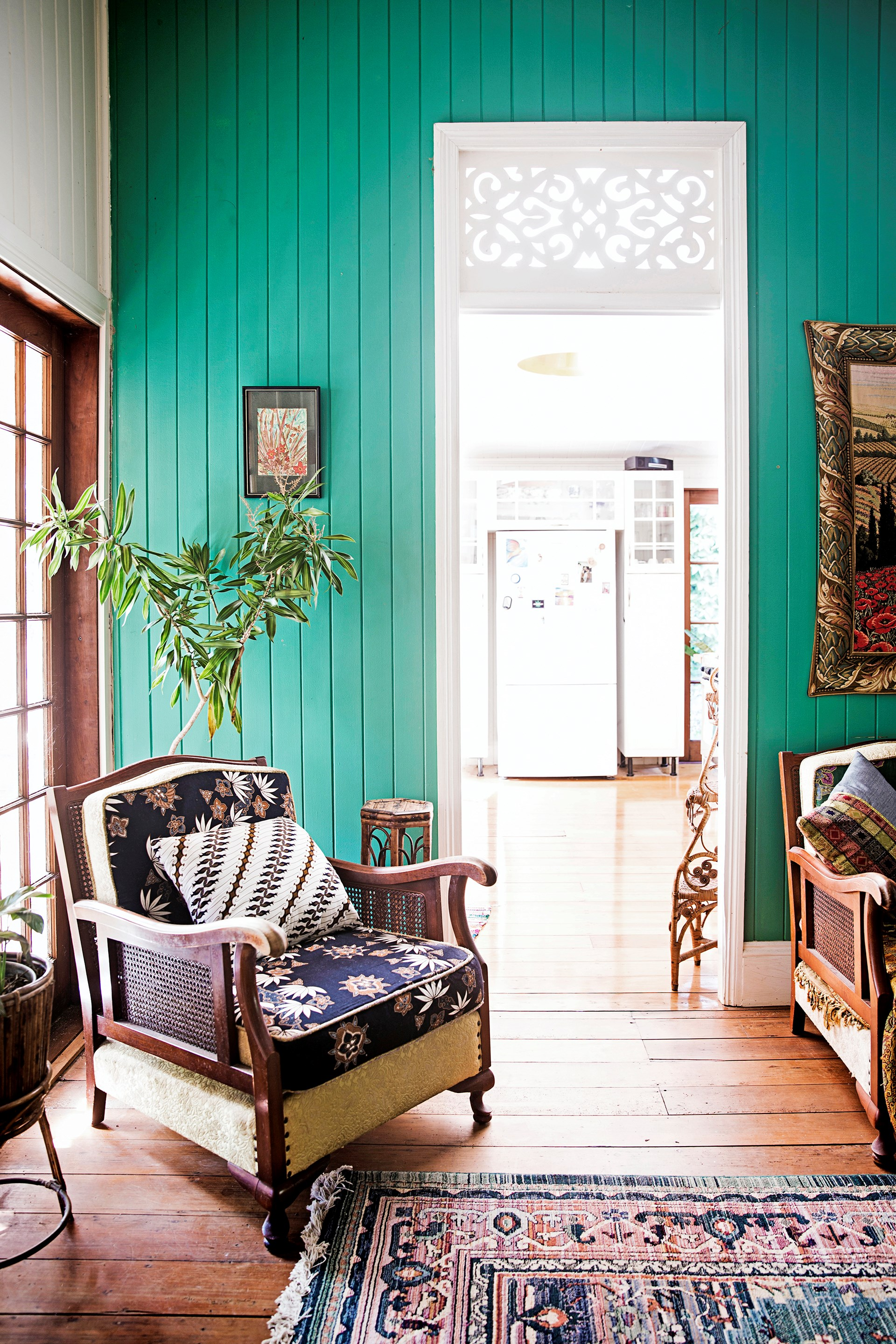 Vintage pieces and retro finds have forged a unique and eclectic style in this [holiday-style Queenslander home](http://www.homestolove.com.au/old-is-new-again-in-this-revamped-queenslander-3532).Photo: James Henry