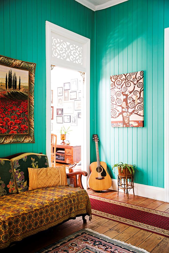 The home is filled with art collected from all over the world.