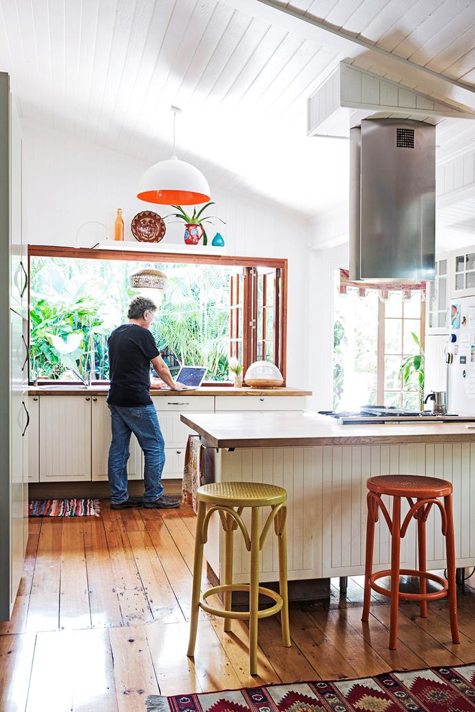 The kitchen, a flat-pack from Ikea, cost just $5000 – including the timber benchtops!