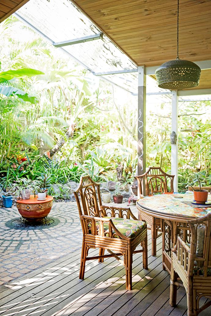 """""""The deck is where we live most of the time,"""" Leonie says."""