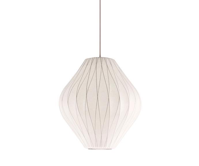 "George Nelson ""Bubble Lamp"" CC Pear **pendant light**, $1099, [Spence & Lyda](http://www.spenceandlyda.com.au/?utm_campaign=supplier/|target=""_blank"")."