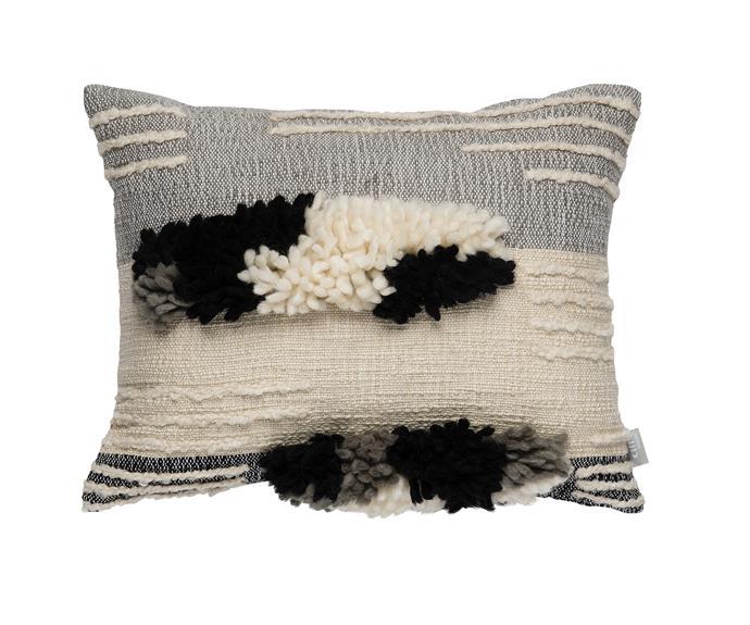 "Hicks woven **cushion cover**, $89.90, [Citta Design](http://www.cittadesign.com/?utm_campaign=supplier/|target=""_blank"")."