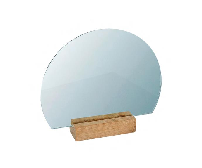 "Moon **mirror** in Copper, $120, [The Minimalist](http://www.theminimalist.com.au/?utm_campaign=supplier/|target=""_blank"")."