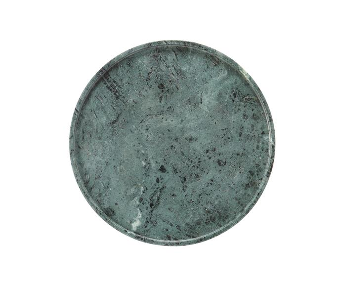 """Alavo small marble **platter** in Mineral Green, $49.95, [Country Road](http://www.countryroad.com.au/?utm_campaign=supplier/ target=""""_blank"""")."""