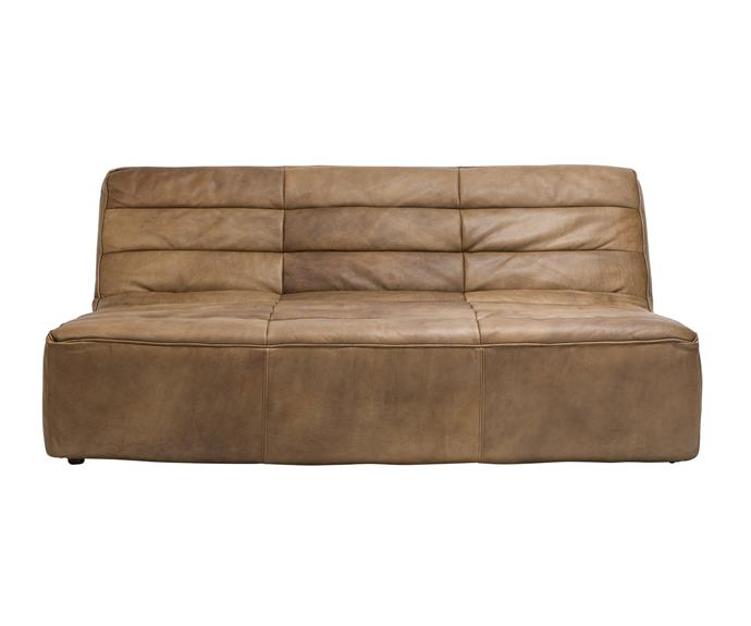 """Timothy Oulton """"Shabby"""" 3-seat **sofa** in Vintage Leather, $5895, [Coco Republic](http://www.cocorepublic.com.au/?utm_campaign=supplier/ target=""""_blank"""")."""