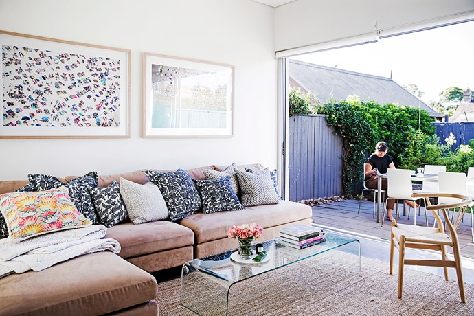 """""""Our house is a 1930s worker's cottage and was actually renovated just before we bought it about 10 years ago. It was in a great location, had a good-sized backyard, and didn't need any further work, which suited us perfectly!"""""""