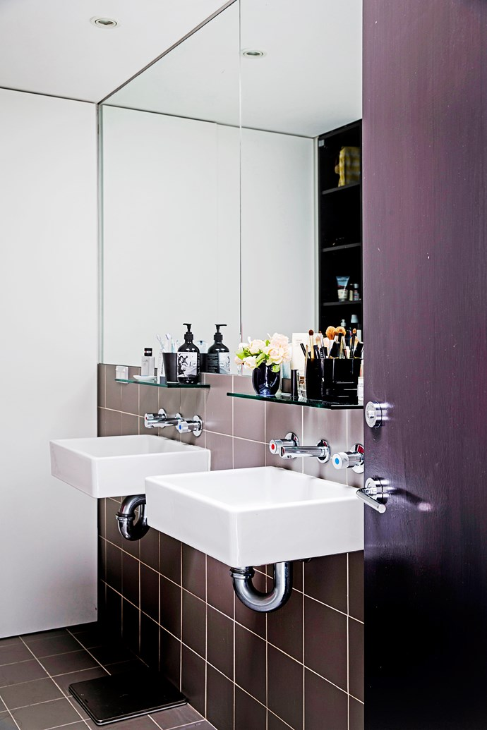 The double basins are one of the things Vanessa loves about the bathroom.