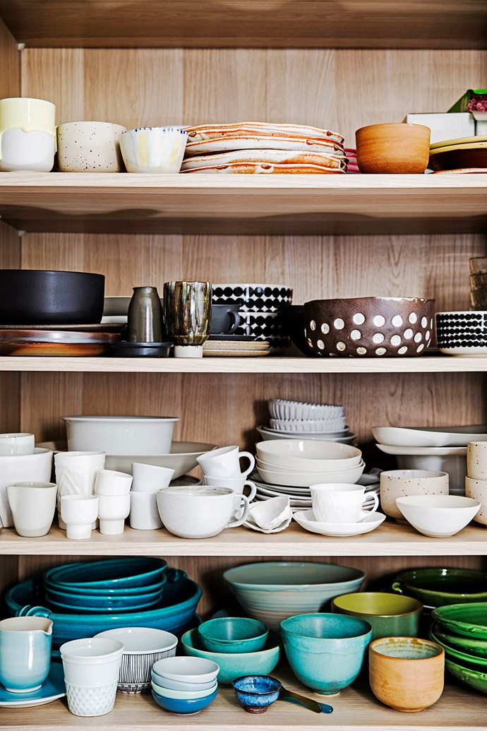 """""""My collection of ceramics has spilled from the kitchen to the dining room and recently to the spare room."""""""
