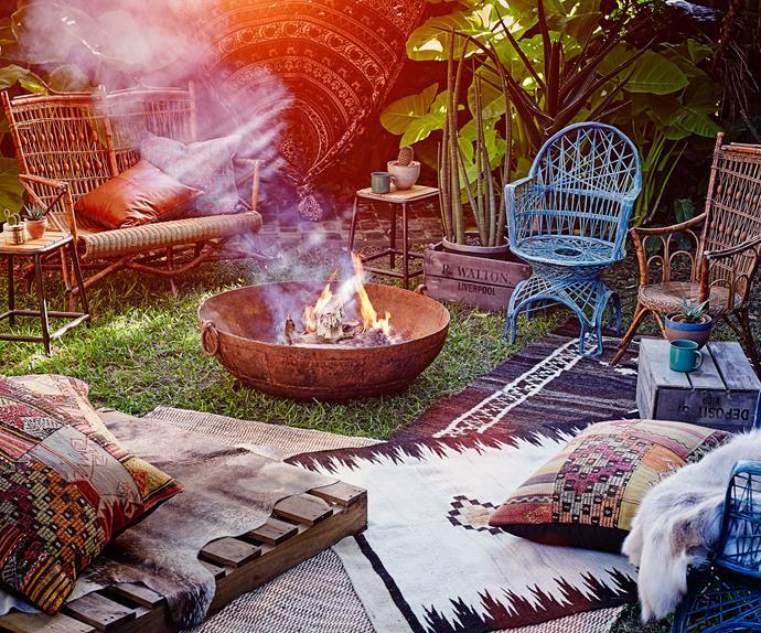Garden Fire Outdoors
