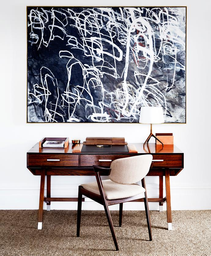 """""""I like places to look individual, lived in and not over-designed, an eclectic, mid-century aesthetic, smart, but not overdone,"""" says Peter of the interiors."""