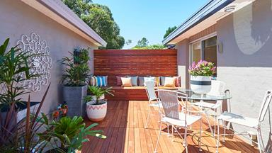 DIY decking system transforms courtyard in half a day