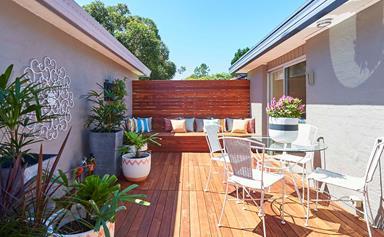 DIY decking system transforms courtyard in half a day
