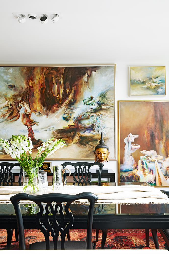 """Art is a transformative element in this reconfigured layout. """"Over the years we have built an interesting art collection and this apartment is the perfect place to show it off,"""" says the owner."""