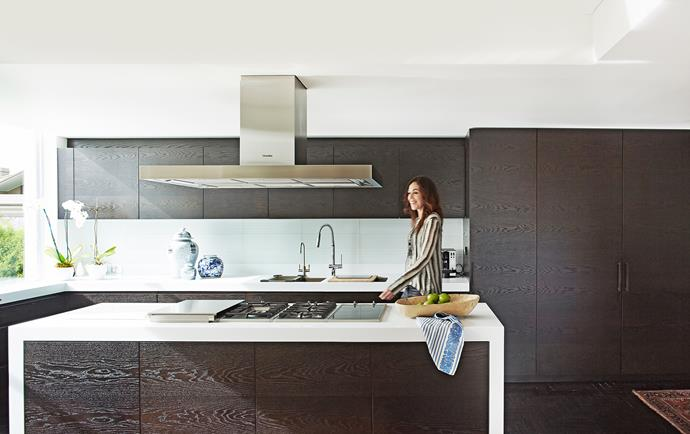 Interior designer Alex Brown was no stranger to the owners' style, having consulted on a previous house for them. The overhaul involved removing internal walls to configure an open layout for the living/dining area and new kitchen.