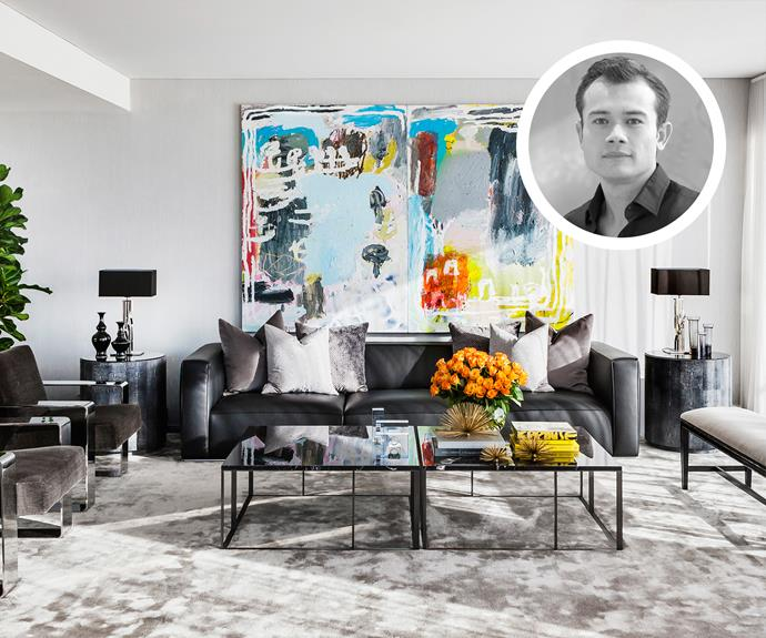 "Strong symmetry gives this living room by [Brendan Wong](http://brendanwong.com/?utm_campaign=supplier/|target=""_blank"") a formal feel."