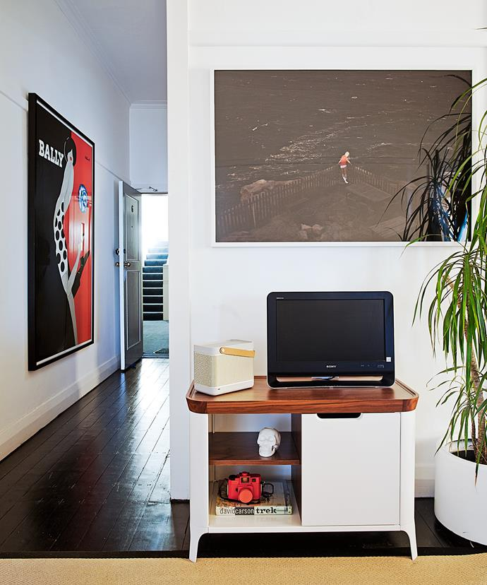 """I wanted a space that felt like my own and wasn't focused around a TV,"" says Sam, who deliberately kept his TV small – he prefers to listen to music."