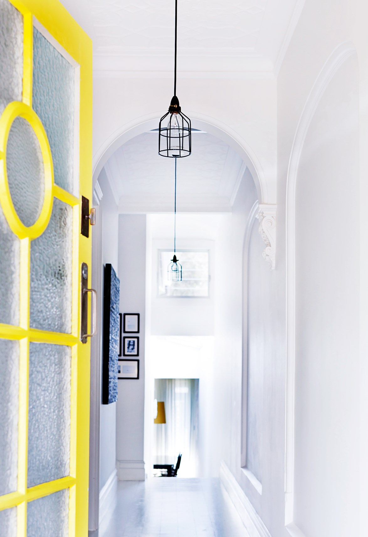 "This [white worker's cottage](https://www.homestolove.com.au/decorating-with-white-sydney-workers-cottage-reno-3576|target=""_blank"") uses bright colour in surprising ways to add warmth and personality. A [colourful front door](https://www.homestolove.com.au/front-door-colour-ideas-19810