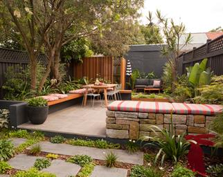inner city backyard transformation