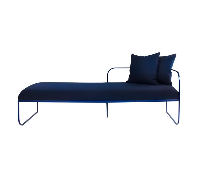 "The aptly named 'Balcony' daybed, POA, by Norwegian design duo [Vera & Kyte](http://vera-kyte.com/?utm_campaign=supplier/|target=""_blank""), encourages sitting and contemplation."