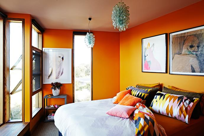 "Colourful  [Kip & Co](http://kipandco.net.au/?utm_campaign=supplier/|target=""_blank"") bedlinen adds zing to the master bedroom."