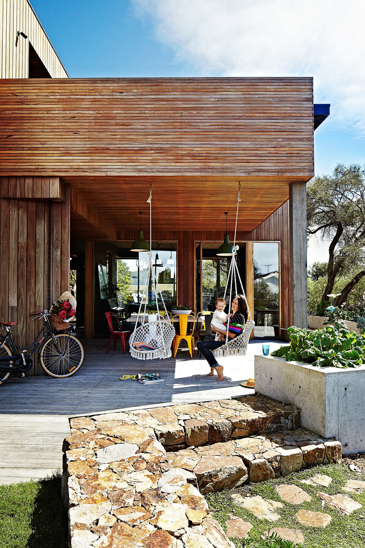 """The now vibrant and colourful home of [Kip & Co founder Kate Heppell](https://www.homestolove.com.au/the-home-of-kip-and-co-co-owner-kate-heppell-3596