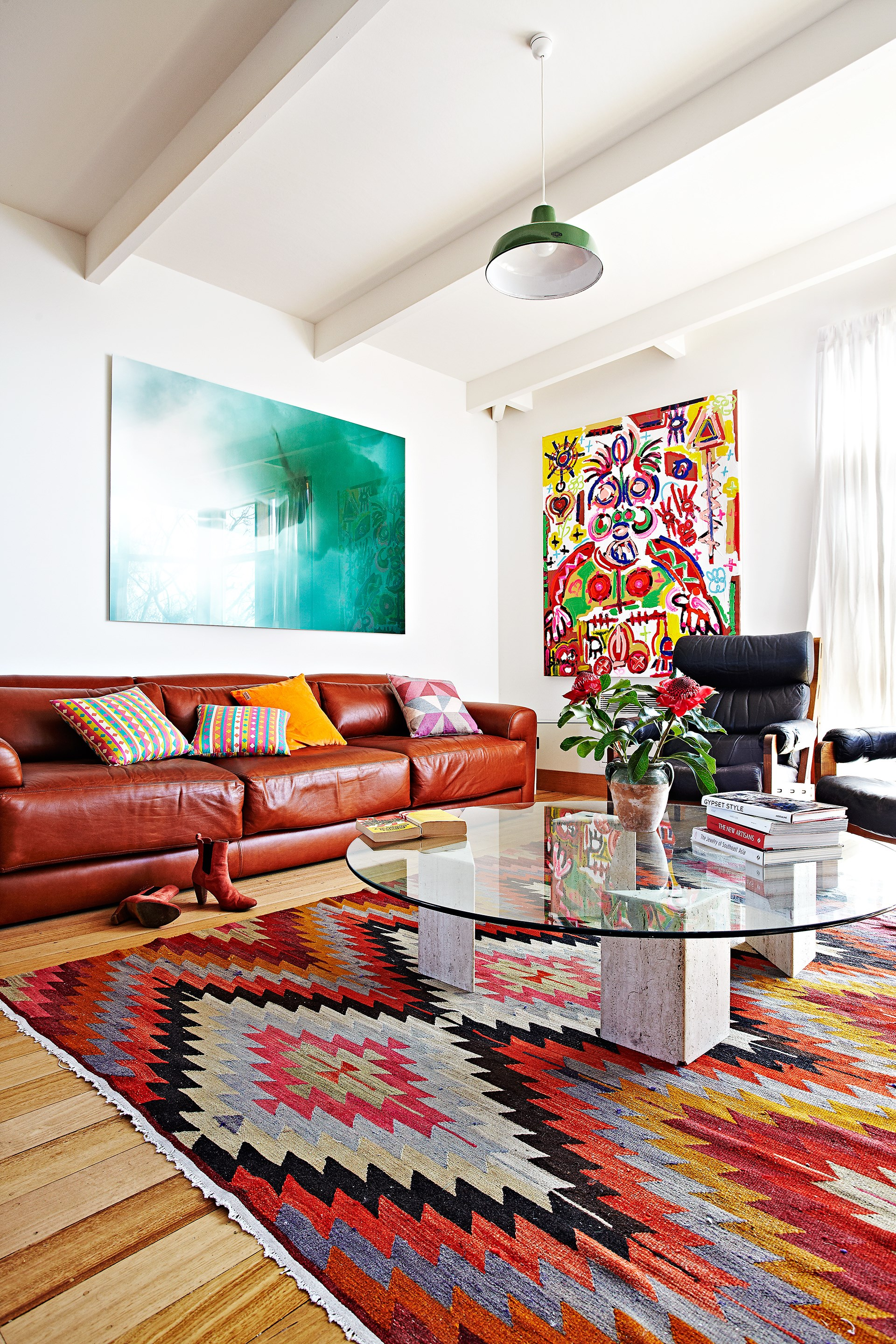 """**ECLECTIC**<p> <p>A home decorated in an [eclectic style](https://www.homestolove.com.au/8-eclectic-interior-design-ideas-4040