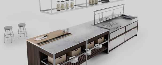 """All the world is a stage, especially if you rate yourself as a cook and have the space to install a knock-out island bench unit, as seen in the [K-LAB Kitchen](www.ernestomeda.it