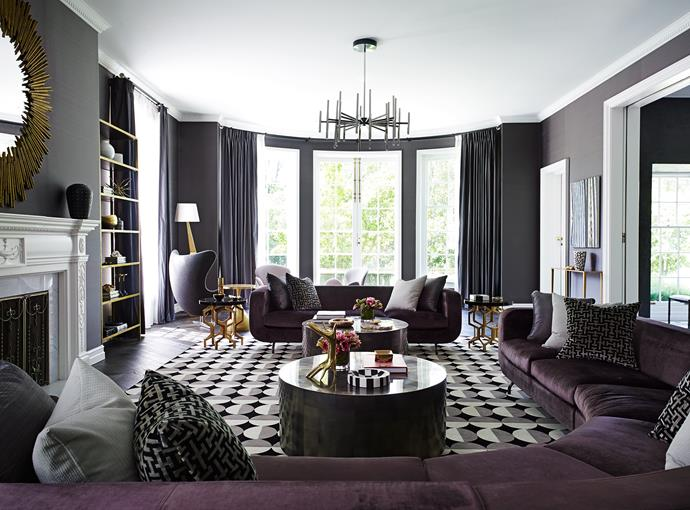 "For interior designer Greg Natale, the formal lounge room is one of his all-time favourites. ""We wanted to add intimacy with layers and textures."""