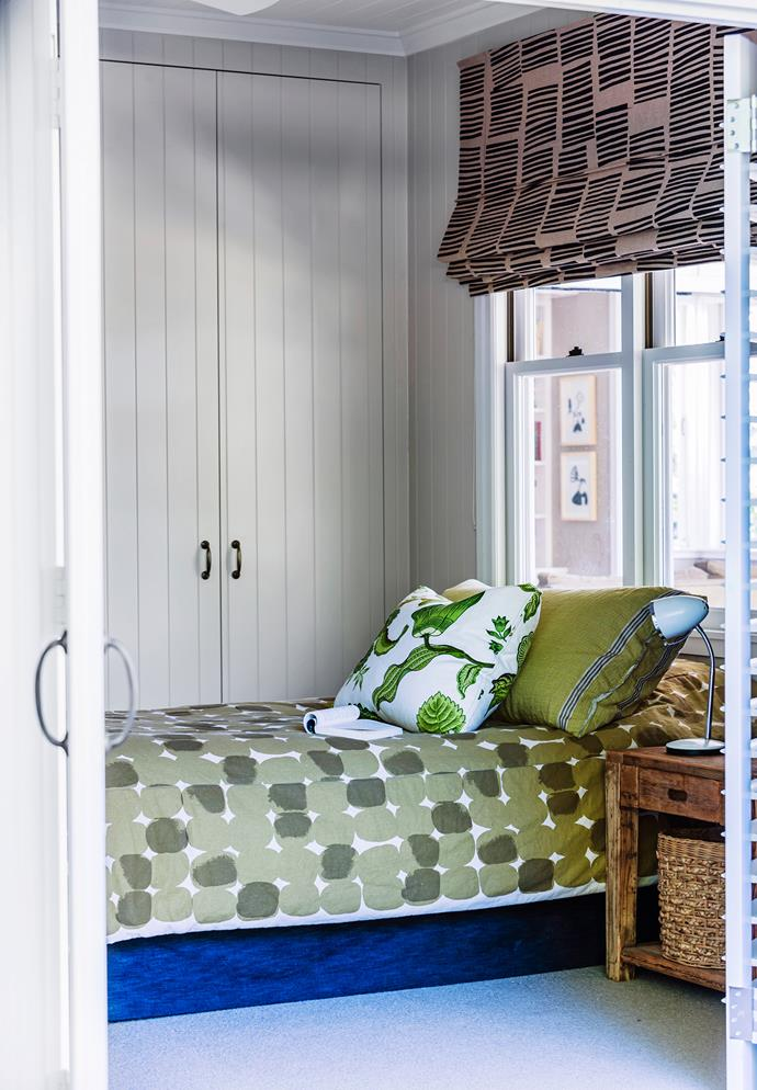 Megan's eldest's room is a space for strong colours and bold patterns.