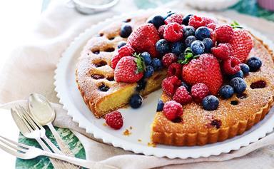 Berry and frangipane tart