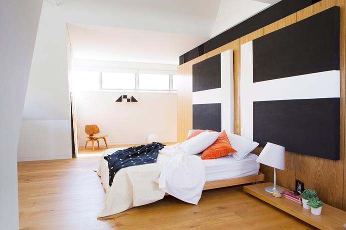 **Use colour blocking.** It's a cheap and easy way to add a modern touch to any space. Paint walls or a canvas in bold colours for a statement look, or start out small by using a throw or pillows that clash with your bedding. Colour-blocking made easy. Photo: James Knowler / Bauersyndication.com.au.