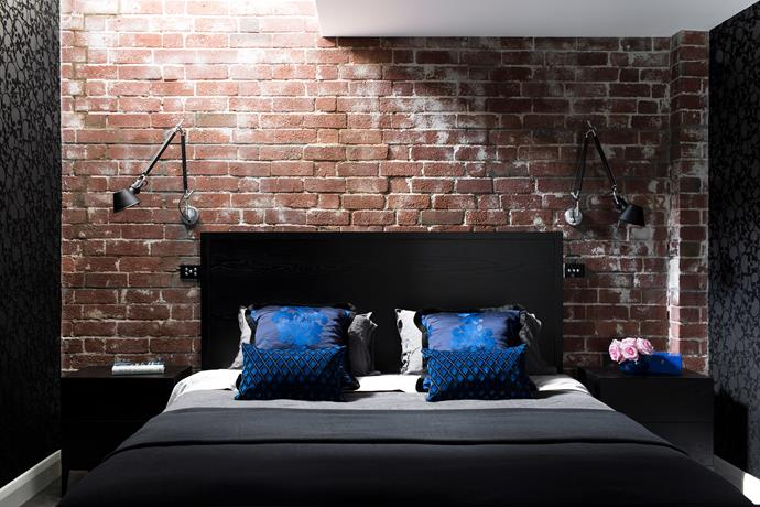 **Bring the outdoors in.** An exposed brick wall will instantly give any room a cool, contemporary, NYC loft feel. If your home has a brick foundation, you can strip back plaster fairly easily. Or buy into the trend with high-end brick-style wallpaper for less effort. Photo: Martina Gemmola / Bauersyndication.com.au.