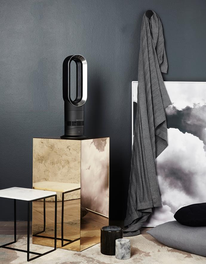 "**Ditch dated accessories.** Stick with futuristic buys that tie in with the room's overall contemporary aesthetic. The added bonus is they'll come packed with a range of impressive features like this [Dyson Hot+Cool fan heater](http://www.dyson.com.au/fans-and-heaters/fan-heaters.aspx/|target=""_blank""), $699, which has two airflow modes for personal or wide room use, a sleep setting for night time use and even doubles as a fan in summer. Photo: Chris Jansen / Bauersyndication.com.au."
