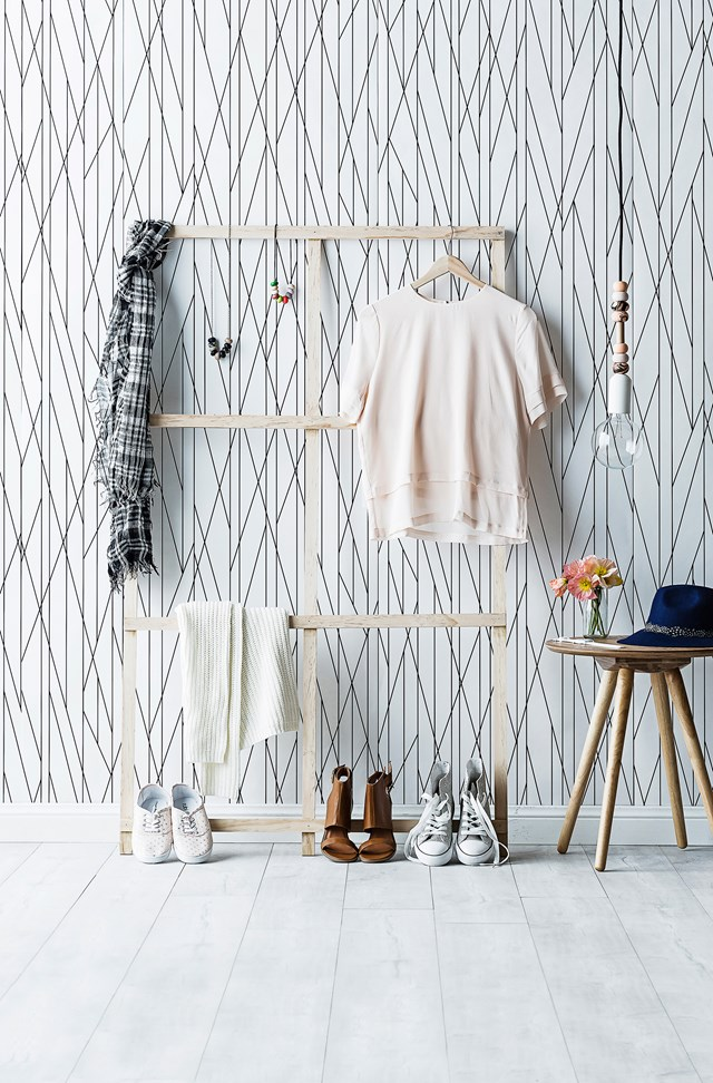"""If you're tight for space, try a [DIY timber clothes frame](http://www.homestolove.com.au/diy-timber-clothes-frame-3628