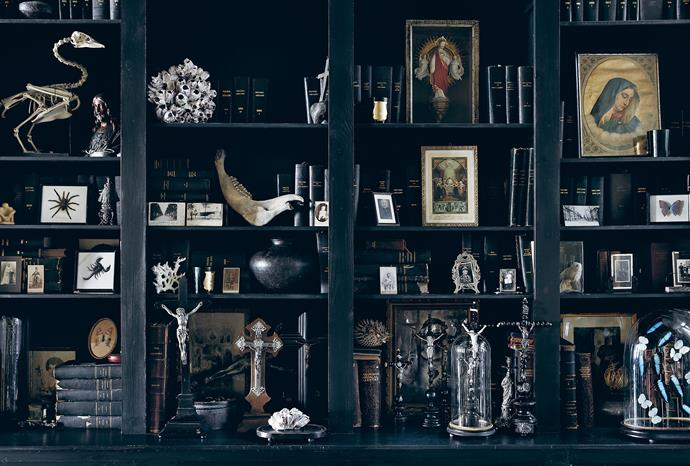 This cabinet of curiosities can be found in Boulevard Leopold, an unusual bed-and-breakfast in Antwerp, Belgium.