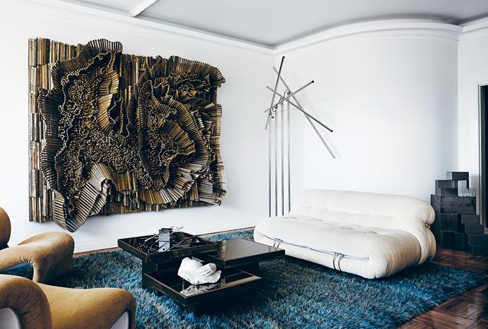 With a background as a music video director, Don Cameron treats the rooms in his Sydney apartment as a stage set.