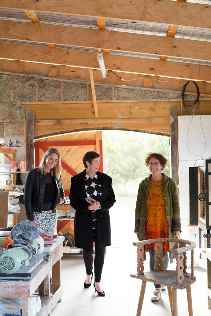 Ceramicist Nanna Bayer creates stunning objects out of her mudbrick studio in the Huon Valley