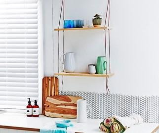 cheap homemade shelves