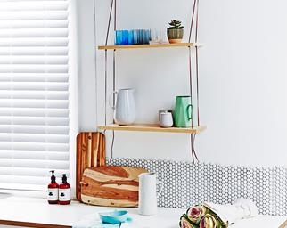 cheap homemade shelves