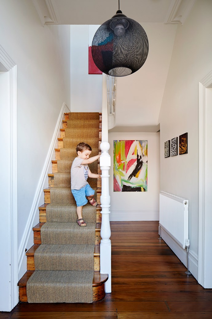 "The couple's three-year-old son puts the sisal [runner to the test](http://www.homestolove.com.au/how-to-choose-the-right-hall-runner-1506/?utm_campaign=supplier/|target=""_blank""). It's resilient and hides wear well."