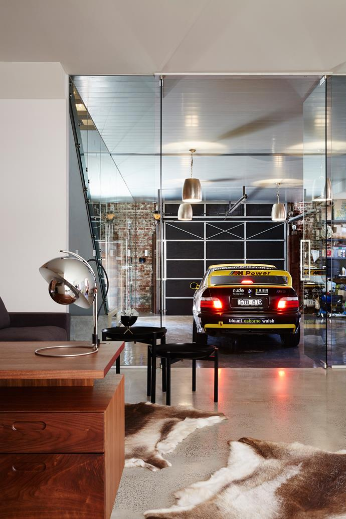 "Homeowner and ""self-confessed speed demon"" Matt needed a garage big enough to house his racecars."