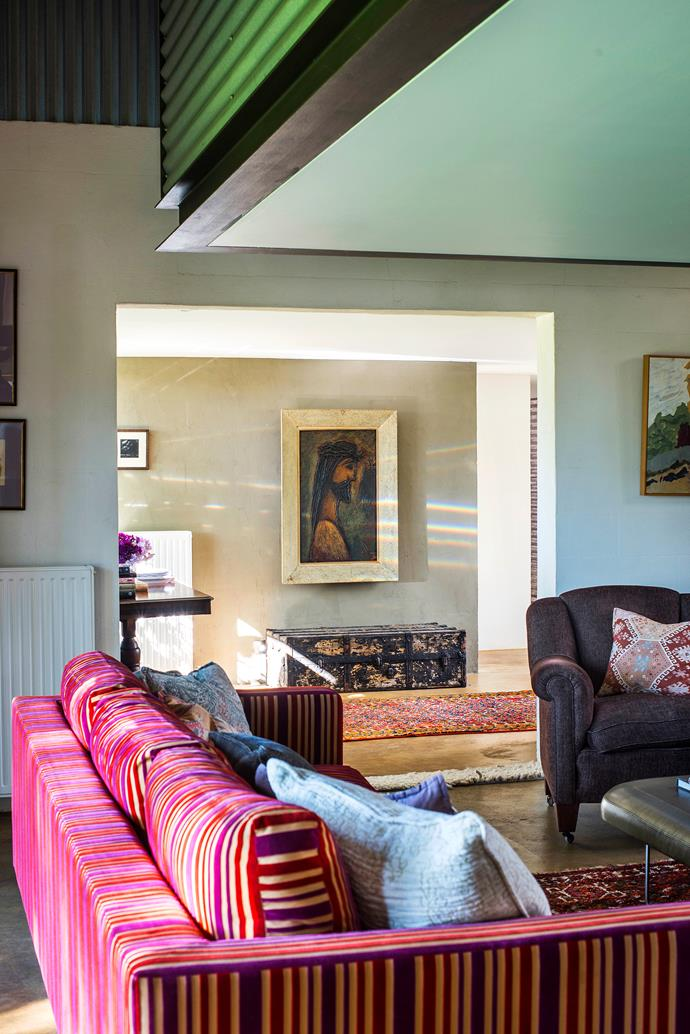 """""""We love rich, warm hues such as burgundy – we gravitate towards autumnal colours in this cool environment,"""" says Wendy."""