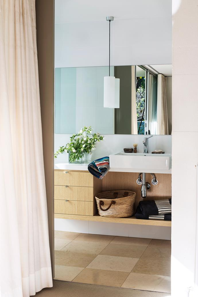 """The ensuite features a Jado Geometrie basin **mixer** from [Accent International](http://accenttapware.com.au/?utm_campaign=supplier/