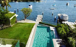 Sydney Harbour garden