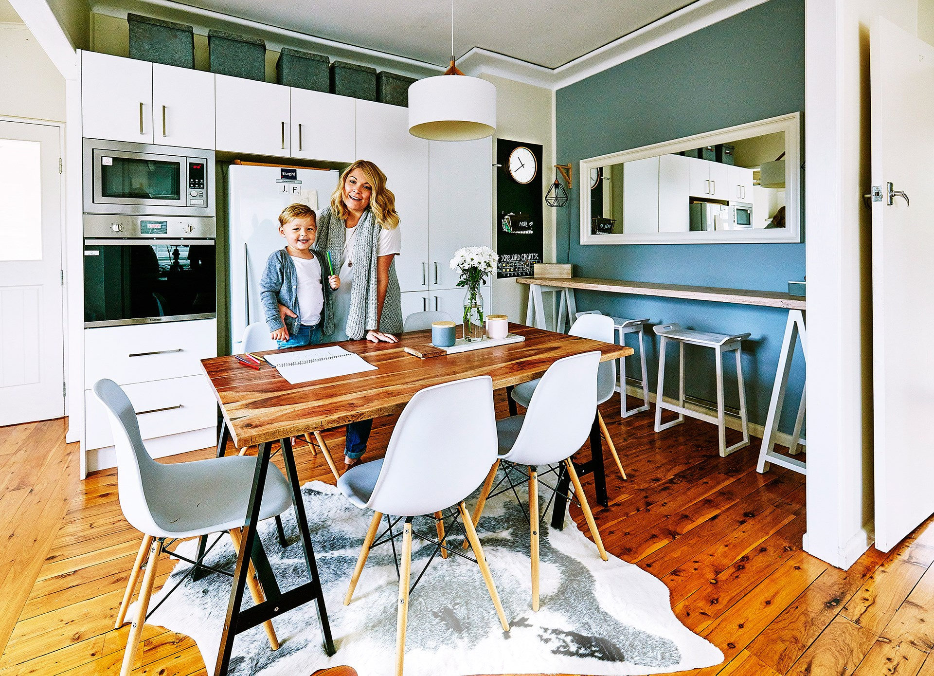 **Jess Walsham** Since moving into this fibro cottage in south-west Sydney, this couple have been making adjustments here and there to create the perfect family home. [See the full home here](http://www.homestolove.com.au/inspiring-fibro-cottage-renovation-3659) or [vote for this home](http://www.homestolove.com.au/homes-reader-home-of-the-year-4499).