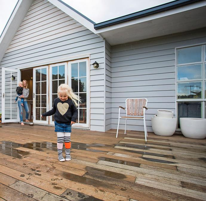 """""""We still have so much to finish outside but [having the deck done](http://www.homestolove.com.au/diy-decking-system-transforms-courtyard-in-half-a-day-3558/?utm_campaign=supplier/