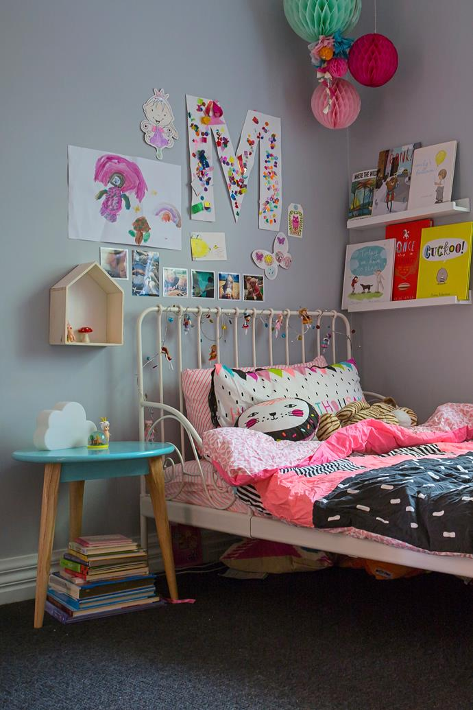 """Emily loves Ikea for furniture for the kids' bedrooms, like the [Minnen extendable bed frame in white.](http://www.ikea.com/au/en/catalog/products/S79124620/?utm_campaign=supplier/